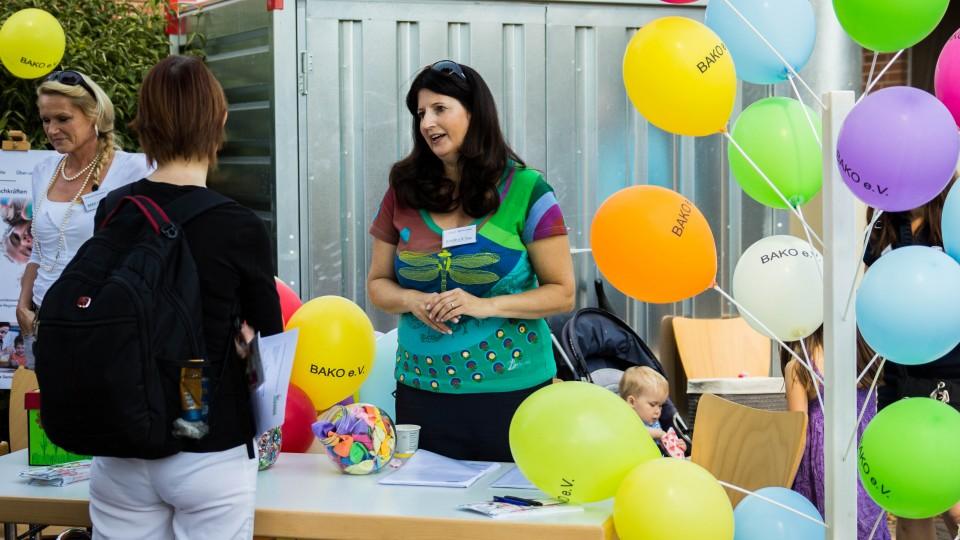 """Infostand des Vereins bei """"Zukunft für Kinder e. V."""" am 26.07.2015"""